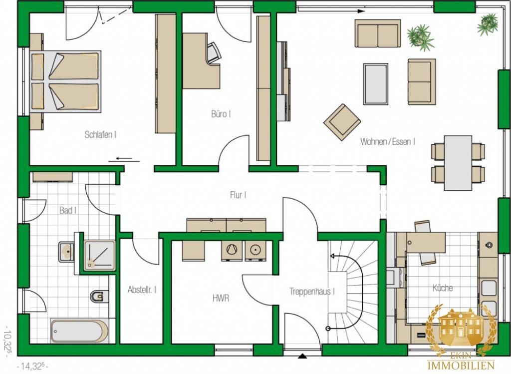 Modernes Zweifamilienhaus als MASSIVBAU  BLB KfW 55
